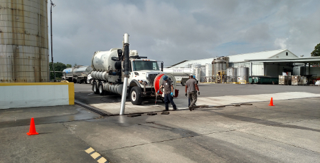 Industrial Services: Let us assist you in removing liquids and vapors from your work site. We are fully licensed to transport hazardous and non-hazardous materials.