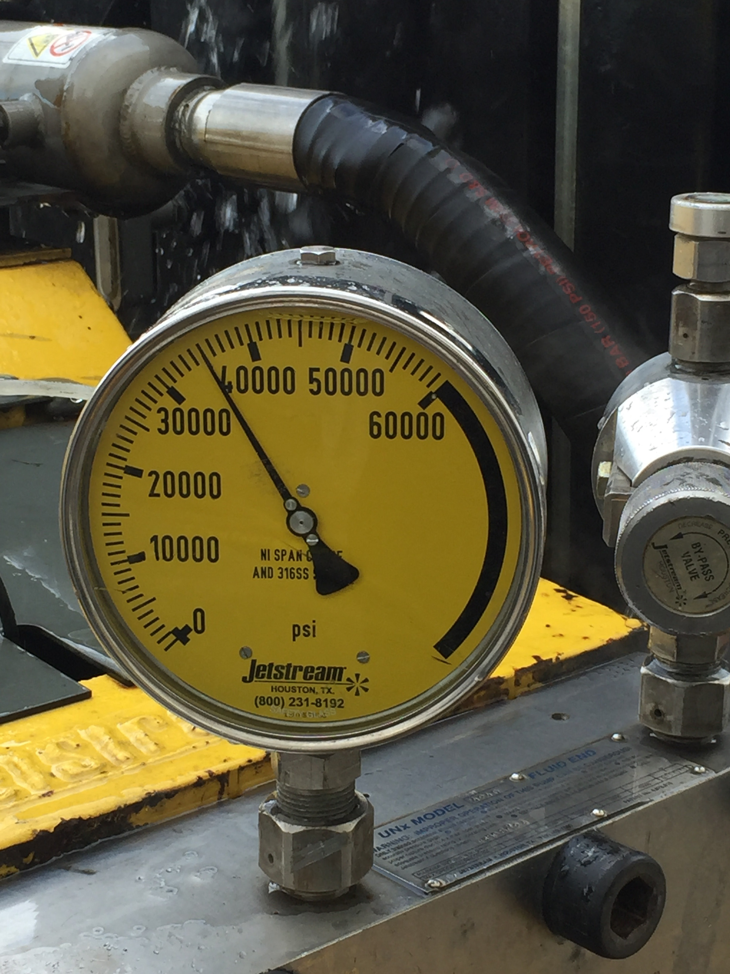 Water pressure PSI gauge